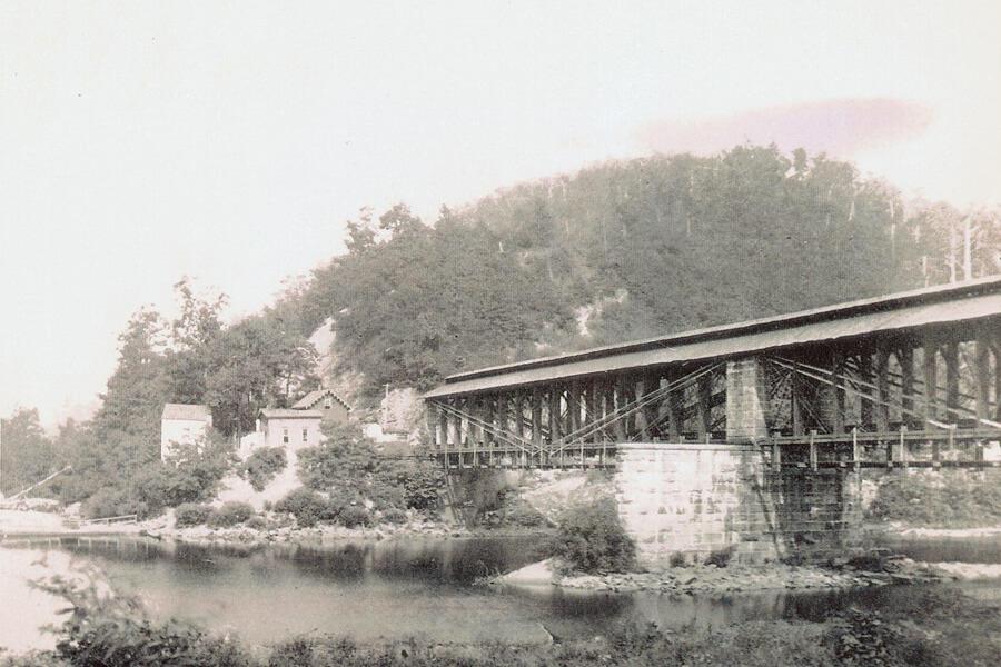 Original Bridge Across Cheat River 1852