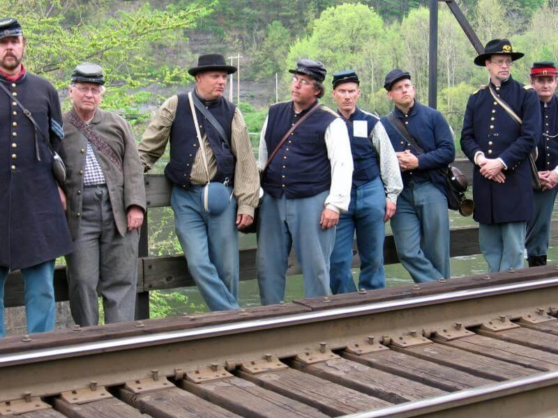 cheat river bridge civil war rowlesburg